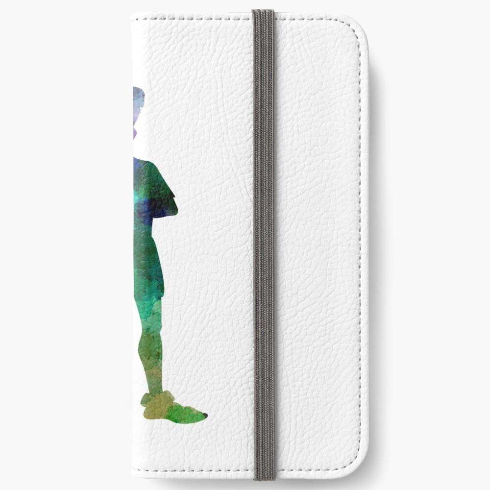 Peter Pan in Aquarell iPhone Flip-Case