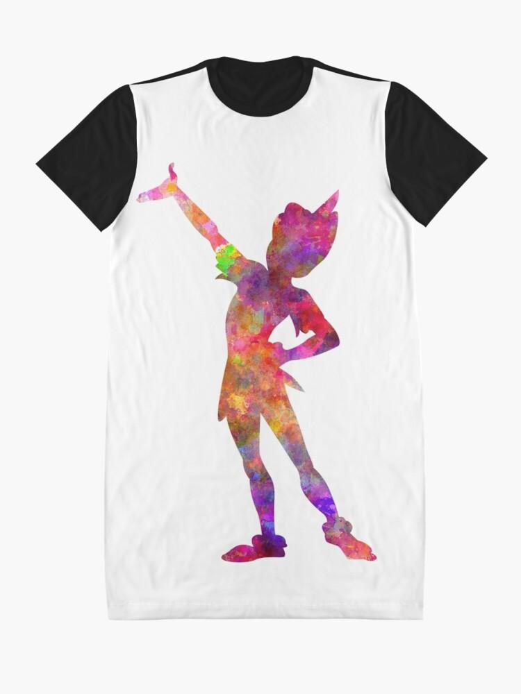 Alternative Ansicht von Peter Pan in Aquarell T-Shirt Kleid