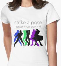 Camiseta entallada JJBA: ¡Huelga una pose, salva el mundo!