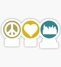 Peace Love Urban Planning Sticker
