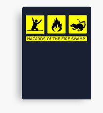 Hazards of The Fire Swamp Canvas Print