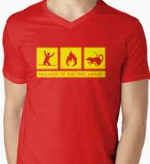 Hazards of the Fire Swamp Men's V-Neck T-Shirt
