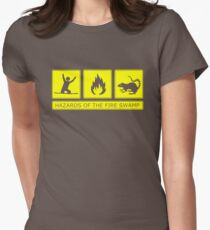 Hazards of the Fire Swamp Womens Fitted T-Shirt