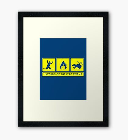 Hazards of the Fire Swamp Framed Print