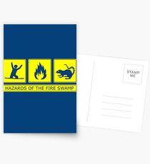 Hazards of the Fire Swamp Postcards