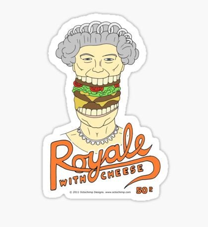 Royale with cheese Sticker