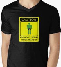 Don't Make Me Angry Men's V-Neck T-Shirt