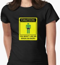 Don't Make Me Angry Womens Fitted T-Shirt