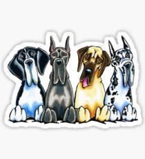 Four Great Danes Sticker