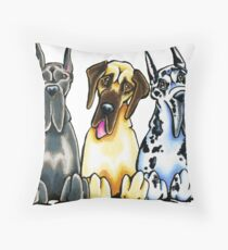 Four Great Danes Throw Pillow