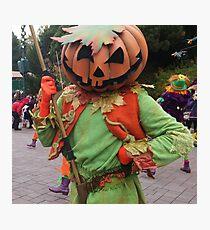 Pumpkin mask Photographic Print