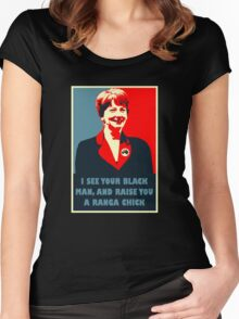 Prime Ministerial Propaganda Women's Fitted Scoop T-Shirt