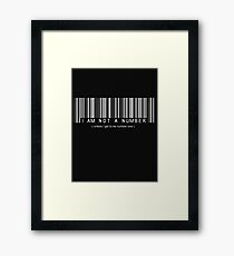 not a number, unless.. Framed Print