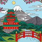 Fuji mountain temple by Kerby664