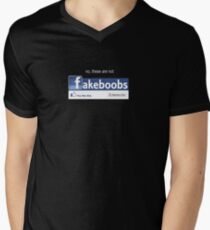 fakeboobs Mens V-Neck T-Shirt