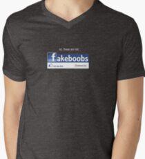 fakeboobs Mens V-Neck T-Shirt