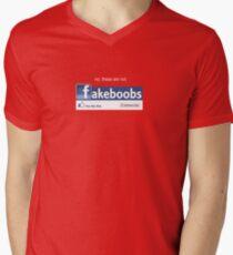 fakeboobs Men's V-Neck T-Shirt