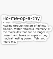 Homeopathy Sticker