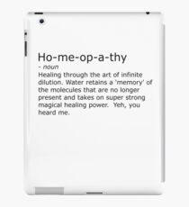 Homeopathy iPad Case/Skin
