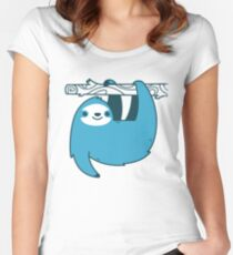 Sloth on a Branch Women's Fitted Scoop T-Shirt
