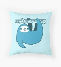 Sloth on a Branch Throw Pillow