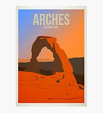 Arches National Park - Minimalist travel poster Photographic Print