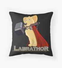 Labrathor Throw Pillow