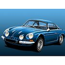 Poster artwork - Renault Alpine A110 by RJWautographics