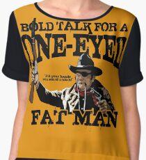 """""""One Eyed Fat Man"""" Women's Chiffon Top"""