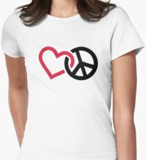 Peace red heart T-Shirt