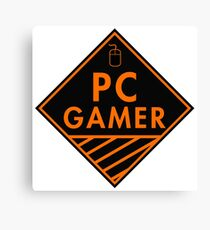 Pc Gaming (Orange) Canvas Print