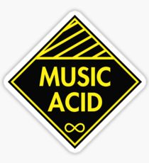 Music Acid Yellow Sticker