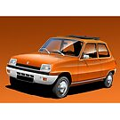 Poster artwork - Renault 5 by RJWautographics