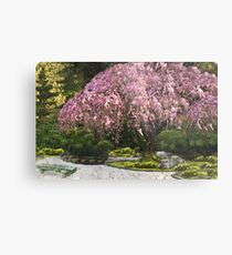 Spring Comes to a Japanese Garden Metal Print