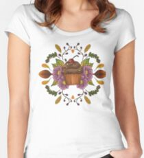 Autumnal Tea Party Women's Fitted Scoop T-Shirt