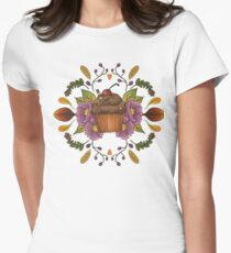Autumnal Tea Party Womens Fitted T-Shirt