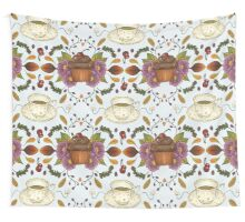 Autumnal Tea Party Wall Tapestry