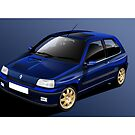 Poster artwork - Renault Clio Williams by RJWautographics