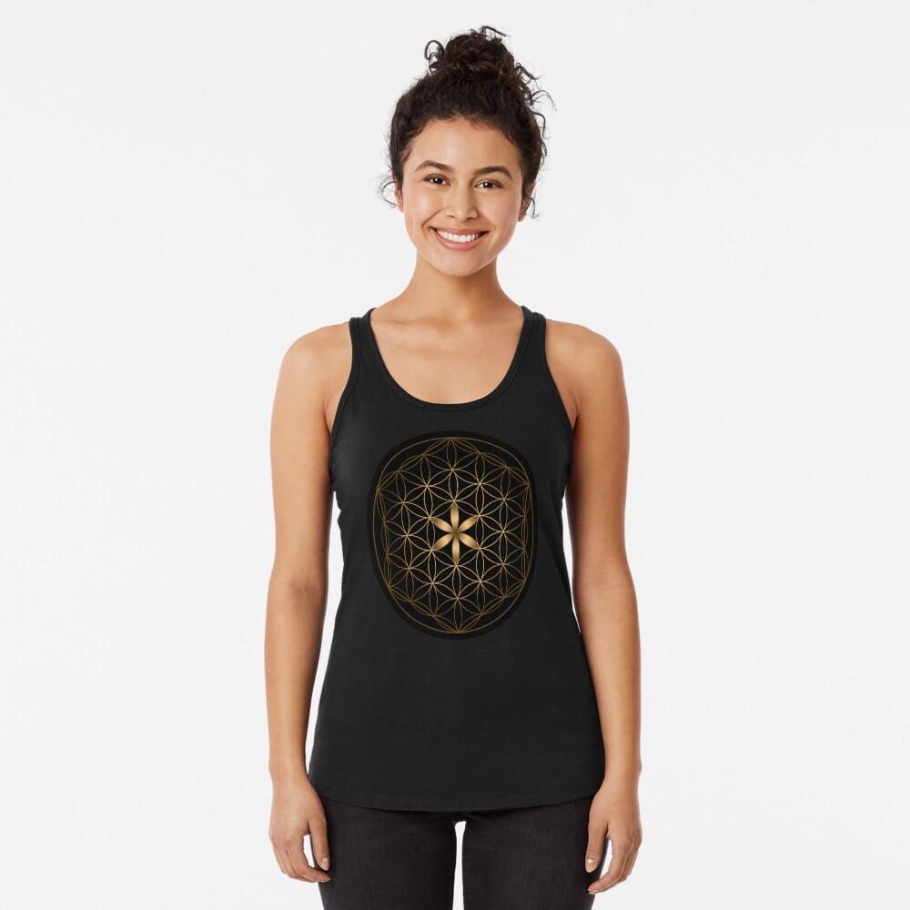 La flor de la vida Camiseta con espalda nadadora