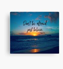 Inspirational Faith Verse Quote Canvas Print