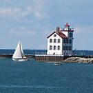 Lorain West Breakwater Lighthouse by Jack Ryan