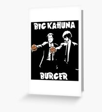 Pulp Fiction - The Kahuna Burger Greeting Card
