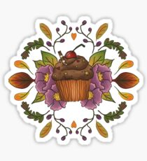 Autumnal Tea Party Sticker
