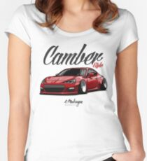 Camber Style BRZ (red) Women's Fitted Scoop T-Shirt