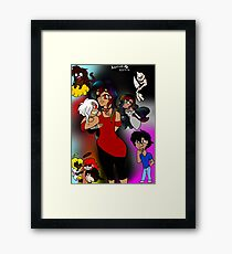 my fictional children + my chibi boyfriend Framed Print