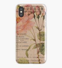Vintage Burlap Floral 4 iPhone Case