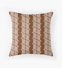 Masculine Modern Pattern in Brown and Beige Throw Pillow