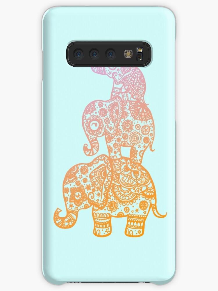 Elefantenfamilie in Farbe von Lil-Salt
