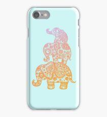 Elephant Family in Color iPhone Case/Skin