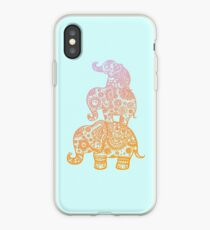 Elephant Family in Color iPhone Case